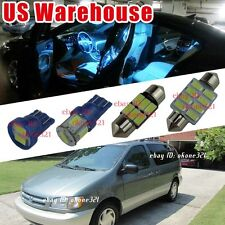 13-pc Aqua Ice Blue LED Lights Interior Map Package Kit For Toyota Sienna 98-03