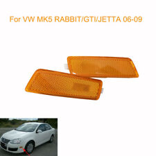 For 06-09 VW MK5 RABBIT/GTI/JETTA FRONT BUMPER SIDE MARKER LIGHTS - YELLOW