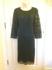 Country Casuals verde pizzo tunica Maiusc cocktail party dress size 14 Matrimonio