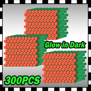 300PCS Glow Refill Bullet Darts foam ammo for strike warriors blaster toy Gun