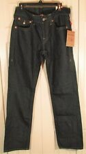 True Religion New Men 30x34 Dark Blue Denim Jeans Straight Leg Free Shipping