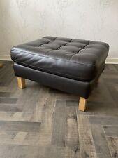 brown leather footstool used