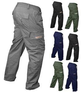 Mens OSILLATOR Elasticated WORK Trousers Cargo Combat Multi Pocket PREMIUM Pants