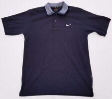 b1dc88347 Nike Dri-fit polo shirt men sz L navy vintage tennis 90s vtg