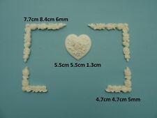 Chic heart & rose corners furniture mouldings paintable resin decorative rcrh