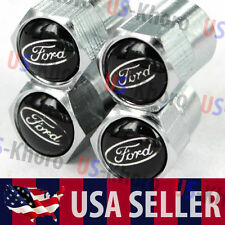 Ford Car/Truck Logo Valves Stems Caps Covers Chromed Roundel Wheel Tire Emblem