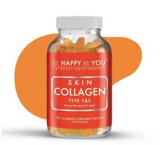 Be Happy Be You Skin Collagen Type 1 & 3 90 Gummies Orange Flavor Exp:07/2022