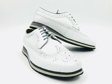 Florsheim Flux Wingtip Oxford Men's White Leather Shoes Size 10