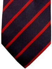 NEW & LINGWOOD Mens Tie Dark Blue - Red Stripes NEW BNWT