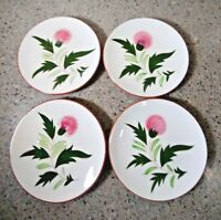 STANGL Pottery THISTLE Set of 4 Bread & Butter Plates 6""
