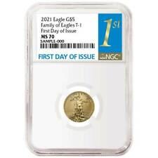 Presale - 2021 $5 American Eagle 1/10 OZ NGC MS70 Gold IED primera Etiqueta