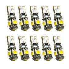 10x LED Standlicht T10 LED Xenon Weiss für Scheinwerfer 12 Volt  5 x Power SMD