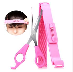 2pc Clipper Fringe Bang Cut Hair Cutting Comb Styling Scissor Shape 1Yr Warranty