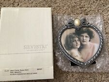 Silvestri Heart Frame, Pewter With Pearl Medallion, New!