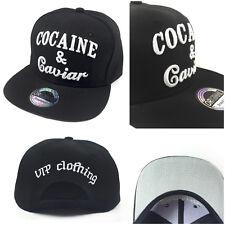 """Cocaine & Caviar"" Snapback Baseball Cap Kappe Hip Hop Party Cool"