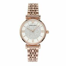 New Emporio Armani Classic Rose Gold Embezzled Dial Women's Watch AR11244