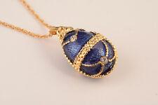 Faberge Osterei Halskette mit Kristallen von Keren Kopal vergoldeten Anhänger