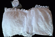 Brami's by Kelly White Lace Bandeau Bra with Enhancements Small NWOT - NVL33