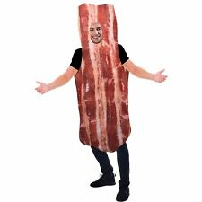 Bacon Fancy Dress Costume One Piece Funny Outfit Adults One Size Standard