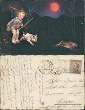 Colombo bambini, scene di caccia