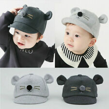 Baby Boys Summer Adjustable Cotton Snapback Hat Kids Mouse Print Casual Cute Cap