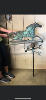 "Vintage WEATHERVANE COPPER RACE HORSE (45"" tall 30"" wide)!!"