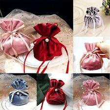 Drawstring Storage Gift Jewelry Candy Pouches Bag 1pc Flannel Bags Velvet