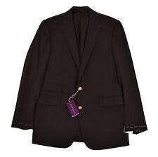 Ralph Lauren Purple Label Navy Wool Blazer Jacket 40 L New $3295