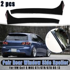 Heckspoiler Vertikal Hinten Splitter Canard Schwarz Für VW Golf 6 MK6 GTI/GTR