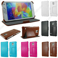 Housse Etui Cuir PU Luxe Stand Samsung Galaxy S7 S6 Edge S5 S5 New S4 S3 Mini