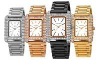 Akribos XXIV Women's AK1108 Quartz Rectangle Swarovski Link Bracelet Watch