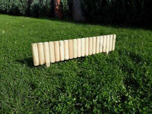 10 x Beeteinfassung Rasenkante Steckzaun 100 cm Zaunhöhe 20 cm aus Holz Top