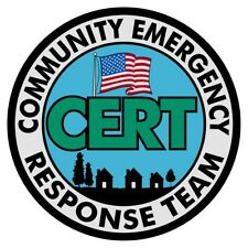 "CERT Community Emergency Response Team 2"" Round Reflective Decal"