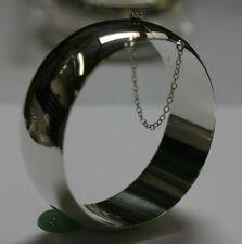 """25mm width Sterling Silver Handmade High Polished Bangle Bracelet 8"""" Great Deal!"""