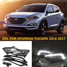 For HYUNDAI TUCSON 2016 2017 2018 LED Daytime Day Fog Lights DRL Run Lamp New