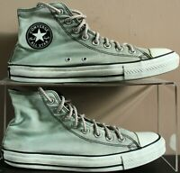 Converse Lace High Tops Trainers - UK Size 9 - Olive Green Canvas - Mens - Hi