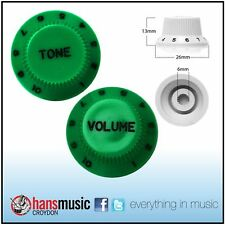 Strat Style Control Volume & Tone Knobs Electric Guitar - Japanese High Green