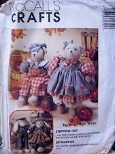 """McCall's Crafts #7979 Sewing Pattern  16"""" tall Country BEARS & BUNNIES & CLOTHES"""