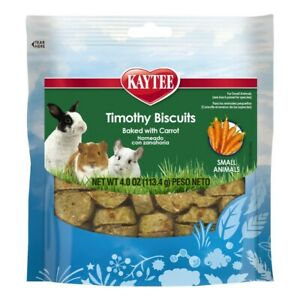 Kaytee Timothy Biscuits Baked With Carrots 4oz FreeShipping