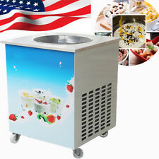 Usa Commercial Fried Milk Yogurt Maker 1 Pan Fried Ice Cream Roll Making Machine