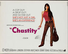 CHASTITY half sheet movie poster 22x28 CHER SONNY BONO VERY RARE 1969
