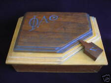 Rare Art Deco Wooden Jewellery Box w/ Sep. Compartment