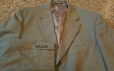 STUART HUGHES Micro Houndstooth Wool SPORT COAT Blazer JACKET Black+Tan 40R EUC