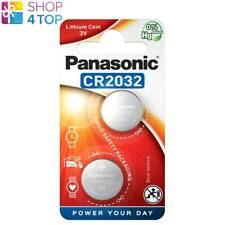 2 PANASONIC LITHIUM POWER CR2032 BATTERIES 3V COIN CELL DL2032 EXP 2028 NEW