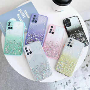 For Samsung Galaxy A12 A21s S20+ A52 Ultra Bling Glitter Shockproof Case Cover
