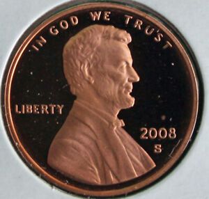 2008 Proof Lincoln Memorial One Cent Penny Gem Coin US San Francisco Mint