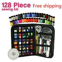 128x Home Travel Sewing Kit Thread Threader Needle Tape Measure Scissor Thimble