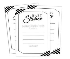 Baby Shower 28 Pcs Fill Write In Blank InvitesPrintable Party Supplies-DS-IN238A