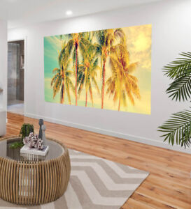 Painting Art Palm Trees Island tropical sun Canvas landscape Australia