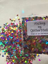 Nail Art Glitter ( Mickey ) 10g Holographic Mickey Mouse Shape Multicoloured